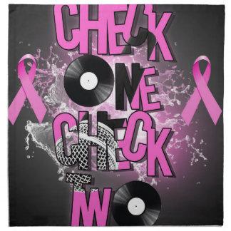 Brustkrebs-Bewusstsein Stoffserviette