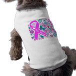 Brustkrebs-Bewusstseins-Haustier-T-Stück Hundetshirt