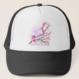 Brustkrebs-Bewusstseins-Kirschblüten-Hut Truckerkappe