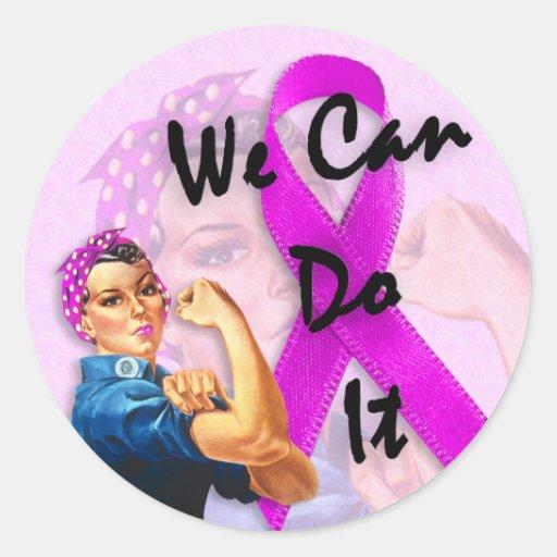 Brustkrebs-Bewusstseins-Monat, Rosie der Nietenein Runde Aufkleber