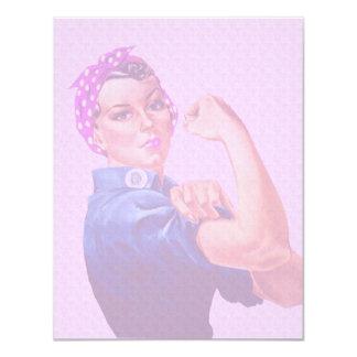 Brustkrebs-Bewusstseins-Monat, Rosie der Nietenein Einladung
