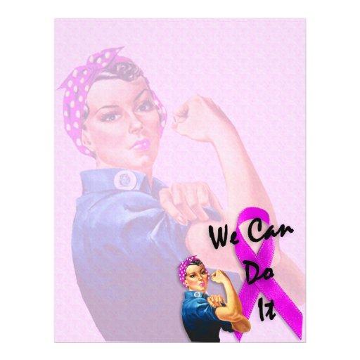 Brustkrebs-Bewusstseins-Monat, Rosie der Nietenein Flyers