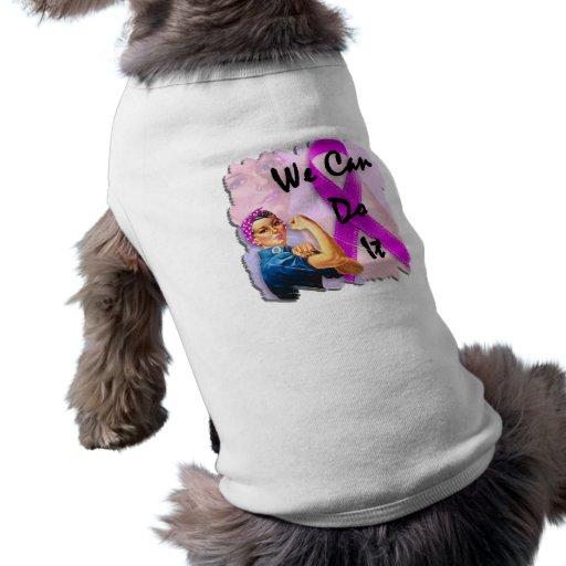 Brustkrebs-Bewusstseins-Monat, Rosie der Nietenein Haustier Tshirt