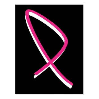 Brustkrebs-Bewusstseins-Rosa-Band III Postkarte