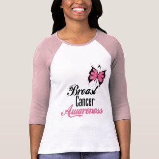 Brustkrebs-Bewusstseins-Schmetterling T Shirt