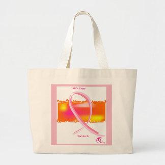 Brustkrebs-Bewusstseinsmonats-Tasche Jumbo Stoffbeutel