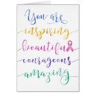 Brustkrebs - erinnern Sie sich, an wem Sie sind Karte