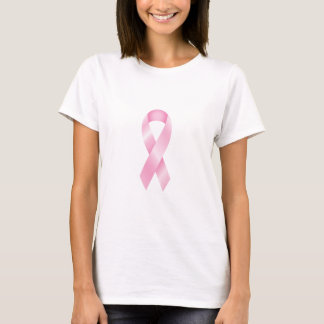 Brustkrebs-glatter rosa Band-T - Shirt