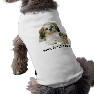 Brustkrebs-Haustier-Kleidung Shih Tzu T-Shirt