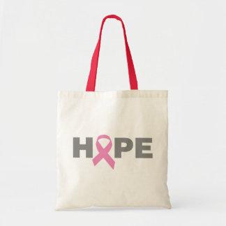Brustkrebs-Hoffnungs-Tasche Budget Stoffbeutel