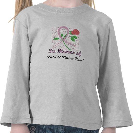 Brustkrebs-kundengerechtes Kleinkind-lange Hülse Hemd