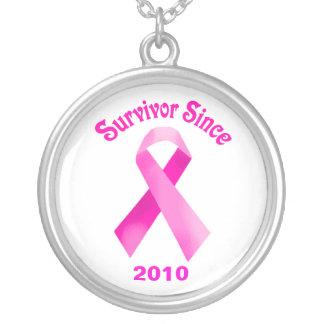 Brustkrebs Schleifen-Halskette Halskette Mit Rundem Anhänger