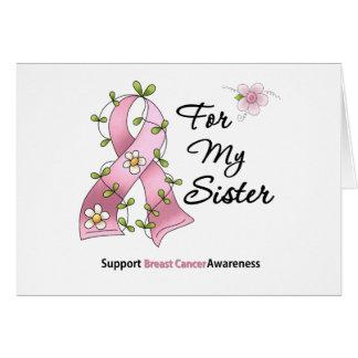 Brustkrebs-Stützschwester Grußkarte