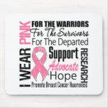 Brustkrebs trage ich rosa Band TRIBUT Mauspad