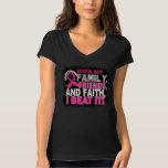 Brustkrebs-Überlebend-Familien-Freund-Glaube Tshirt