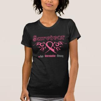 Brustkrebs-Überlebend-Stammes- Band Hemden