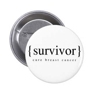 Brustkrebs-Überlebender Anstecknadel