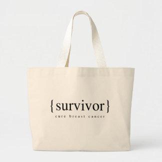 Brustkrebs-Überlebender Jumbo Stoffbeutel