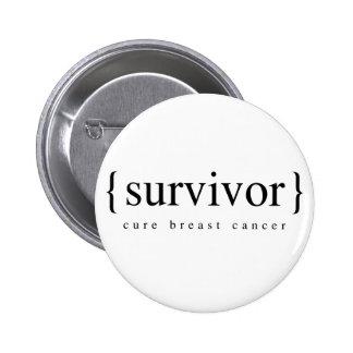 Brustkrebs-Überlebender Runder Button 5,7 Cm