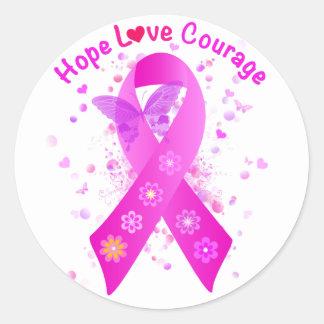 Brustkrebs-Unterstützung Runder Aufkleber