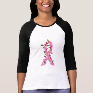 Brustkrebs-Weihnachtslicht-Band T-Shirt