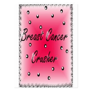 Brustkrebs-Zerkleinerungsmaschine Postkarte