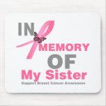Brustkrebs zum Gedenken an meine Schwester Mousepad