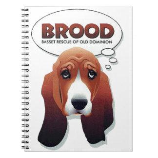BRUT Logo-Notizbuch Spiral Notizblock