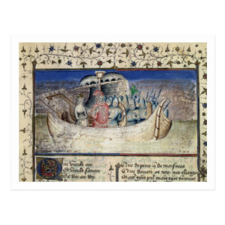 Brutus das Trojan Set-Segel für Großbritannien, Postkarte