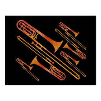 Brutzelnde Trombones Postkarte