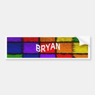 BRYAN (männliche Namen) Autoaufkleber