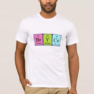 Bryce Namen-Shirt periodischer Tabelle T-Shirt
