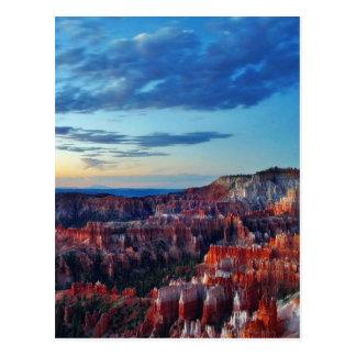 Bryce Schlucht-Sonnenaufgang-Wolken Postkarte