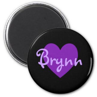 Brynn lila Herz-Entwurf Runder Magnet 5,7 Cm