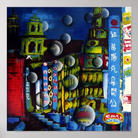 Bubble Shanghai, MJ-Arts Poster