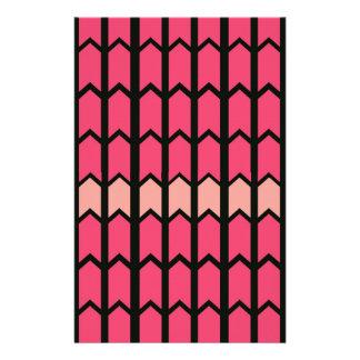 Bubblegum rosa angrenzende Zaun-Platte Briefpapier