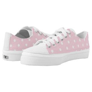 Bubblegum rosa Tupfen Niedrig-geschnittene Sneaker