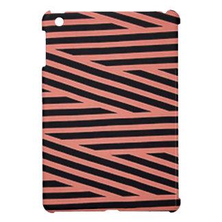 Bubblegum rosa und schwarze Hacky Streifen iPad Mini Hülle