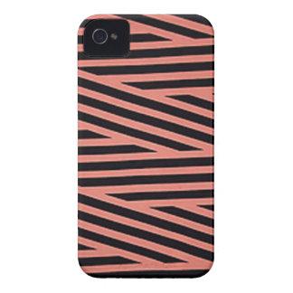 Bubblegum rosa und schwarze Hacky Streifen iPhone 4 Hüllen