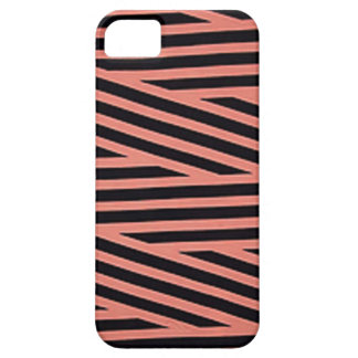 Bubblegum rosa und schwarze Hacky Streifen iPhone 5 Etui