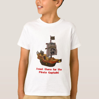 Buccaneer-Piraten-Schiff scherzt T - Shirt