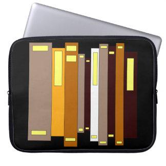 Buch-Bibliothek, die Bildungs-Lesung lernt Laptop Sleeve