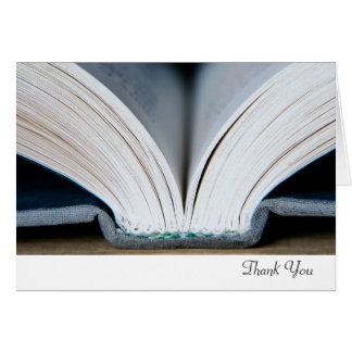 Buch danken Ihnen zu kardieren Karte