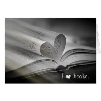 Buch-Liebe-Mitteilungskarten Karte