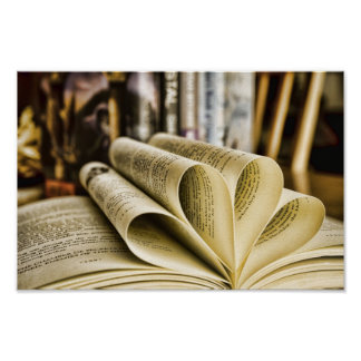 Buch-Liebe Poster