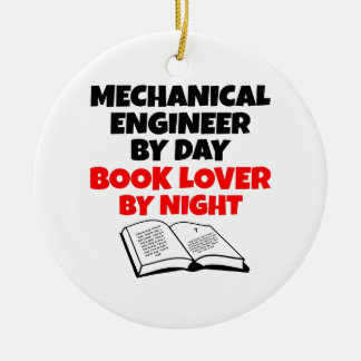 Buch-Liebhaber-Maschinenbauingenieur Keramik Ornament