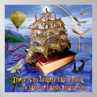Buch-Schiff auf Ozean-Emily Poster