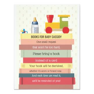 Buch-Stapel holen eine Buch-Babyparty Karte