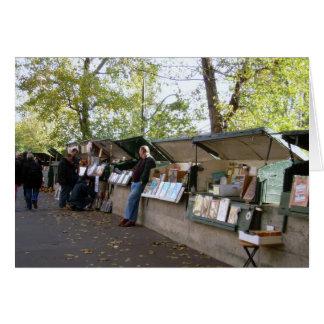 Buch-Verkäufer entlang der Seine Karte