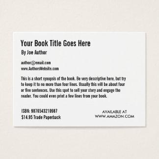 Buch-Werbeaktion-Handels-Karten-Schablone Visitenkarte